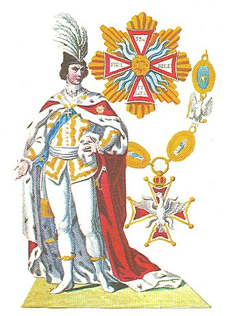Order of the White Eagle (Poland) - Image: Ridder in de Orde van de Witte Adelaar in de ordekleding
