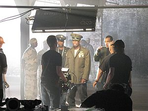 """G-Unit - G-Unit on the set of the """"Rider Pt. 2"""" video, a diss track aimed at Fat Joe"""