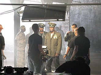 "G-Unit - G-Unit on the set of the ""Rider Pt. 2"" video, a diss track aimed at Fat Joe"