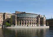 The Riksdag building, Stockholm.