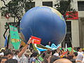 Rio+20 demonstration Huge globe.JPG