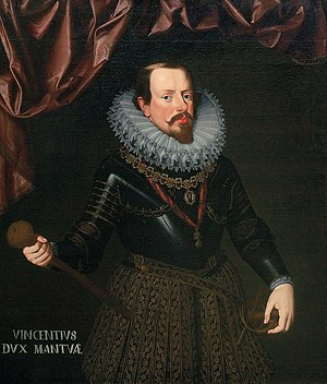 Vincenzo Gonzaga, Duke of Mantua - Vincent Gonzaga, Duke of Mantua by Frans Pourbus the Younger (1602–1612) private collection in Rome.