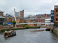 River Aire and Centenary Bridge, Leeds.jpg
