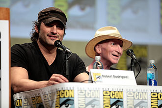 Sin City: A Dame to Kill For - Rodriguez and Miller at a panel for the film at San Diego Comic-Con International in July 2014