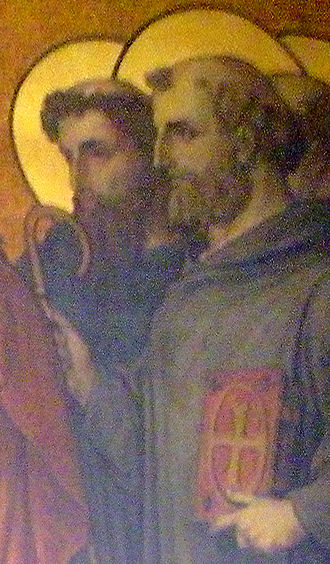 Robert of Arbrissel - Robert of Arbrissel on a 19th-century fresco in Rennes.