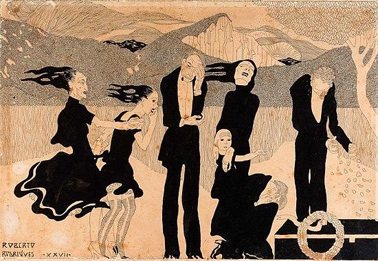 "Roberto F. Rodrigues/Renato Viana, ""Afternoon - Funeral march"", 1928"
