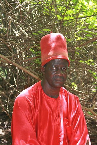 Jola people - Sibulumbaï Diédhiou, The King of Oussouye is the leader of the Jola who follow their traditional religion.