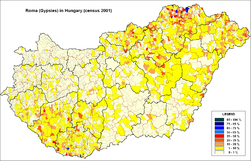 Roma (Gypsies) in Hungary (census 2001).png