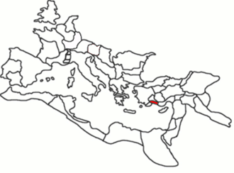 Pamphylia - A map showing Pamphylia's location within the Roman Empire