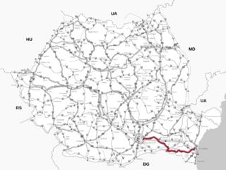 DN3 road in Romania