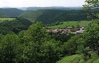 Canton of Lodève - View of Romiguières