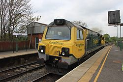 Romsey - Freightliner 70004 light engine Wentloog to Southampton.JPG