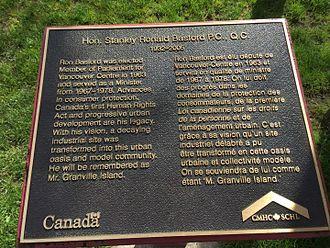 Ron Basford - Plaque describing namee of Ron Basford Park