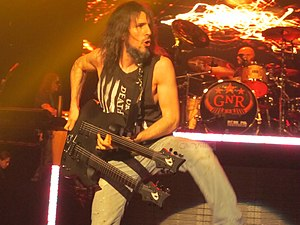 "Ron ""Bumblefoot"" Thal - Thal performing with Guns N' Roses in 2013"