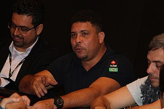 PokerStars - Former Brazil striker Ronaldo pictured with PokerStars in 2014