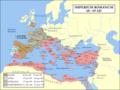 Rooma impeerium 68.-69. aastal. Sinisega on märgitud Vespasianusele lojaalsed provintsid.png