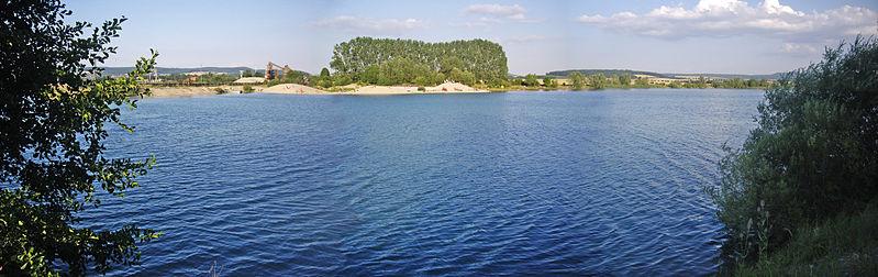 Rosdorfer Baggersee, Panoramablick von der Westseite