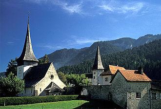 Rougemont, Switzerland - Church of Saint-Nicolas