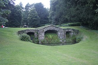 English landscape garden - Garden of Rousham House, by William Kent (1737)