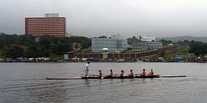Quidi Vidi Lake - Rowers at the Royal St. John's Regatta