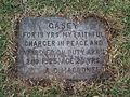 Royal Military College of Canada ring gravestone for Commandant's pet Casey.jpg