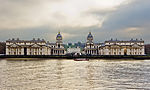 Royal Naval College Greenwich view from the Thames.jpg