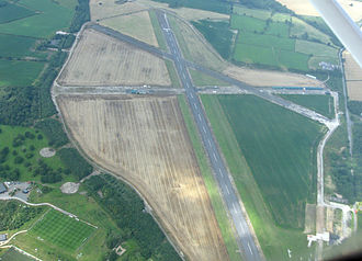 Tatenhill Airfield - Tatenhill Airfield looking west in 2014.