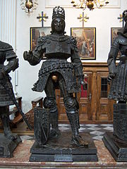 bronze statue of Rudolf I of Habsburg of the tomb of Maximilian I, Holy Roman Emperor