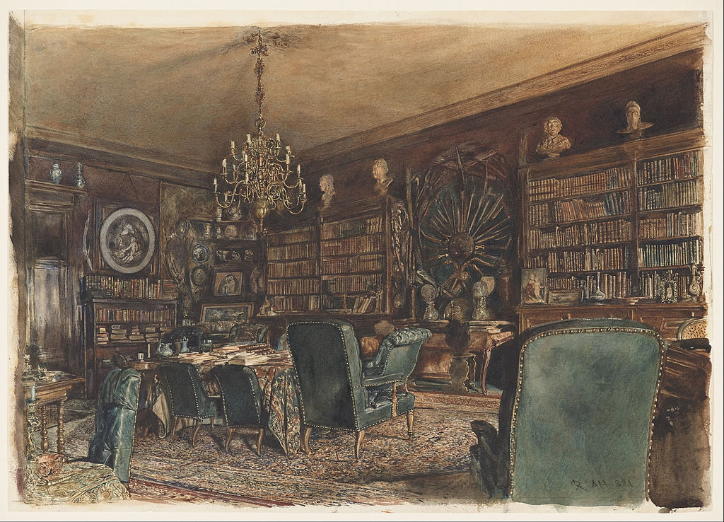 Apartment Room Count file:rudolf von alt - the library in the apartment of count