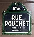 Rue Pouchet (Paris) - plaque de rue.JPG