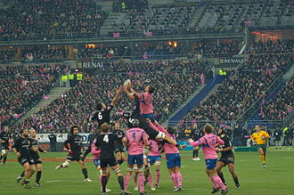 Stade Français - Stade Français vs Stade toulousain in Paris, January 2007.