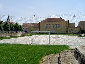 Handball - An outdoor handball playing field
