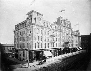 Russell House (Ottawa) - The Russell Hotel circa 1883