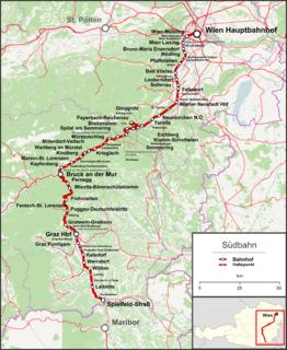 Southern Railway (Austria) railway line in Austria