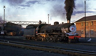 South African Class 14C 4-8-2, 2nd batch - Image: SAR Class 14CRB 1900 Beaufort West 130481