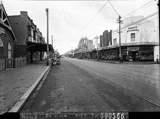 Mascot, New South Wales - Botany Road in 1938