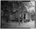 SOUTH FRONT AND WEST SIDE - Drane's Rental House B, 109 Hudson Lane, Sumter, Sumter County, GA HABS GA,131-AMER,2-2.tif