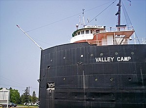 SS Valley Camp - Image: SS Valley Camp bow