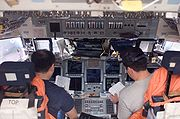 STS-116 flight deck