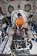 STS-134 Michael Fincke in the Kibo laboratory