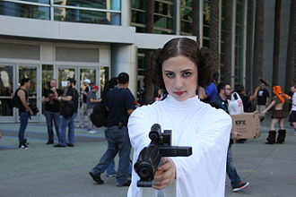Princess Leia - Princess Leia cosplay (Star Wars Celebration in Anaheim, California, April 2015)
