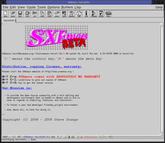 SXEmacs - Image: SX Emacs screenshot