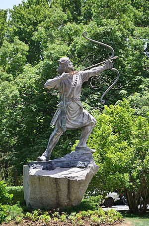 Sa'dabad Complex - Statue of Arash the Archer