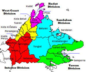Administrative divisions and districts of Sabah