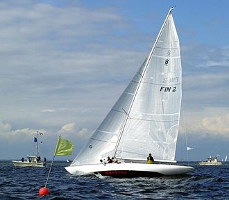 8 Metre (keelboat) - Finnish 8mR-yacht Sagitta (FIN–2) designed by Charles Nicholson in 1929 and owned by Timo Saalasti.