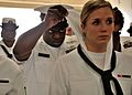 Sailors conduct a uniform inspection. (13923221773).jpg