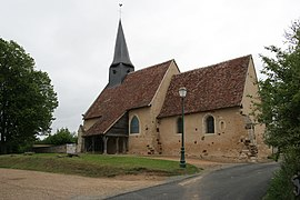 The church of Saint-Martin, in Saint-Martin-des-Monts