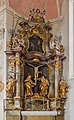 Saint Amandus crucifixion altar, church Saint Peter and Paul, Oberammergau, Bavaria, Germany.jpg