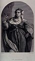 Saint Barbara. Steel engraving by K. H. Merz after J. Palma. Wellcome V0031656.jpg