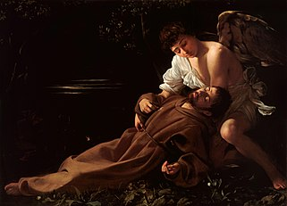 Saint Francis of Assisi in Ecstasy-Caravaggio (c.1595)